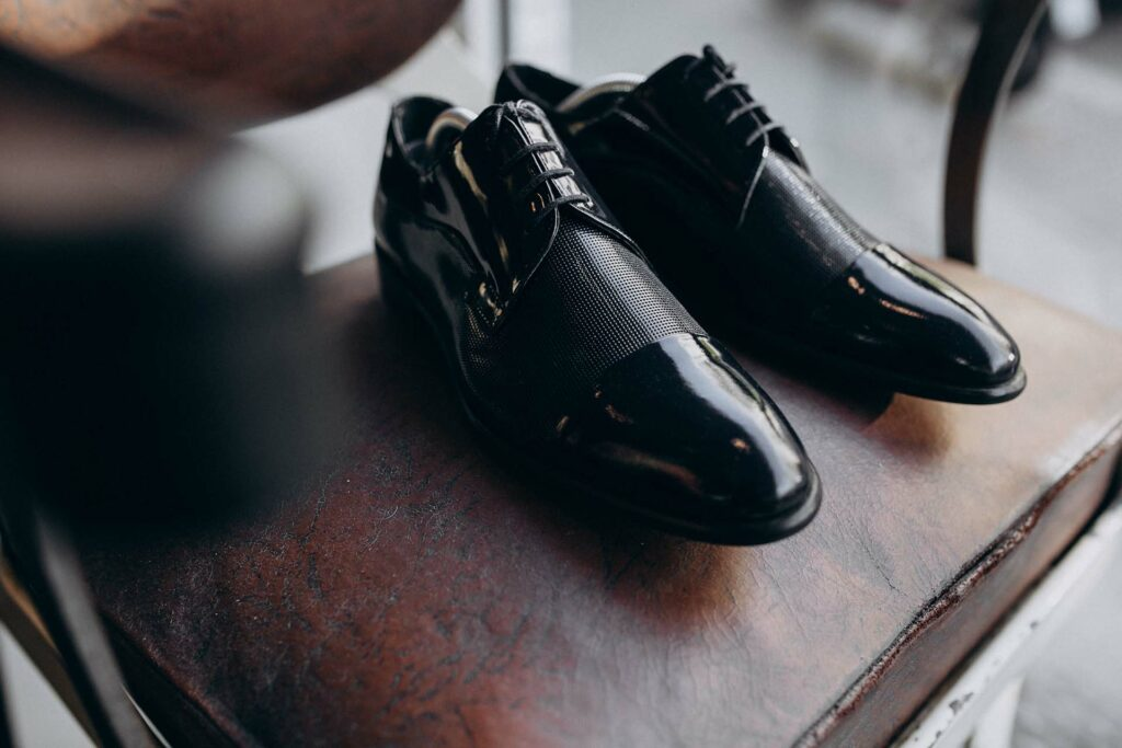 Groom's shoes isolated